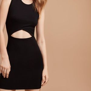 Aritzia Wilfred Free front cut-out dress xs